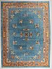 A carpet, a semi-antique china, ca 329,5-332 x 241,5 cm (as well as 1-1,5 cm flat weave at the ends).