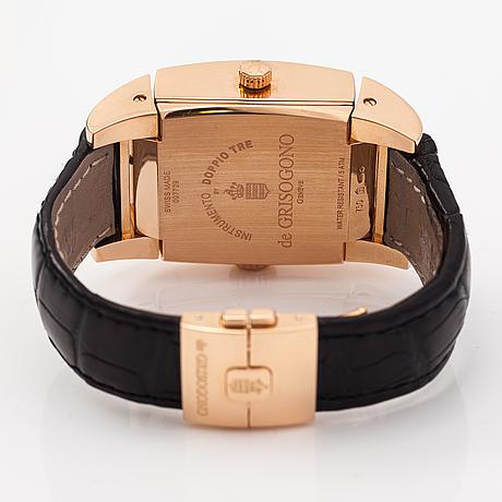 De grisogono, doppio tre, armbandsur, 36 x 35,5 mm.