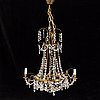 A 20th century gustavian-style chandelier.