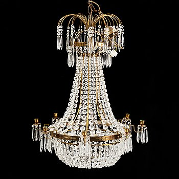 A 20th century late-gustavian-style chandelier.