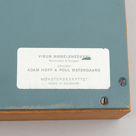 A clothes hanger by adam hoff & poul östergaard, virum möbelsnickeri, denmark, mid 20th.