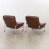 Armchairs, a pair, 1970.