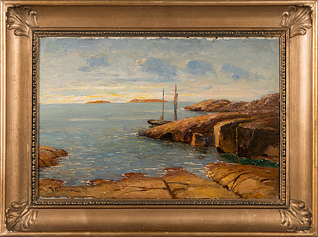 Victor nikkanen, oil on canvas, signed and dated -29.