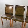 A set of four swedish modern chairs 1940s.