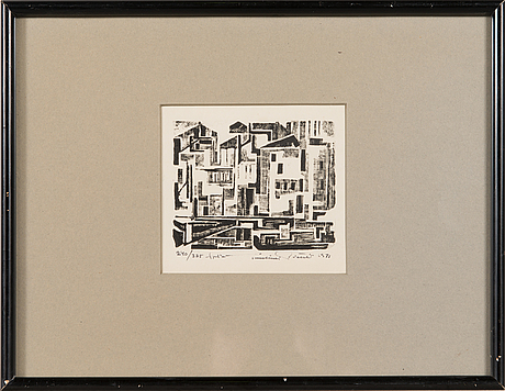Tuulikki pietilä, woodcut, signed and dated 1971, numbered 240/325 tpl'a.