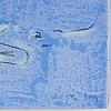 Magnus berg, mixed media on canvas, signed. dated  2010 verso.