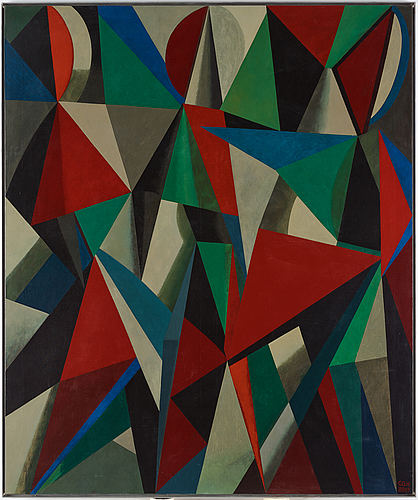 C göran karlsson, tempera on canvas, signed and dated 88-89.