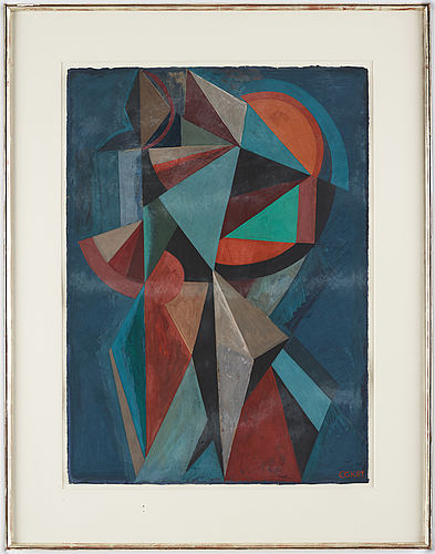 C göran karlsson, tempera on paper, signed and dated -89.