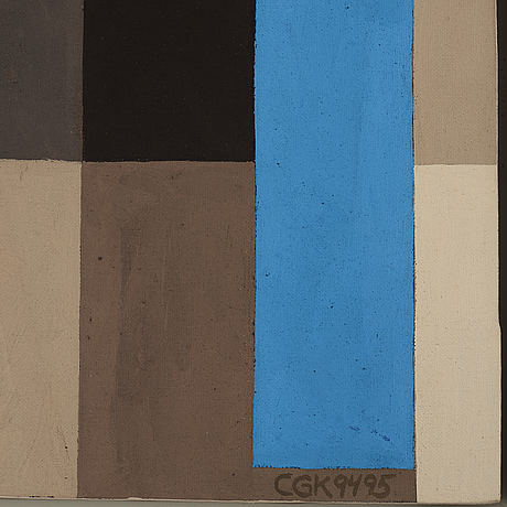 C göran karlsson, tempera on canvas, signed and dated 94-95.