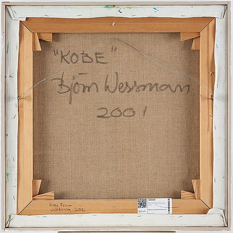 Björn wessman, oil on canvas, signed and dated 2001 verso.