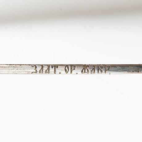 Dragonofficersshashka m 1881-1909, zlatoust, ryssland.