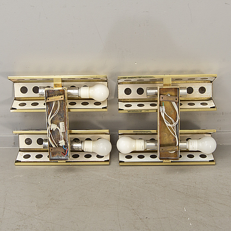 Hans-agne jakobsson, a pair of wall lamps model  number c1016/4.