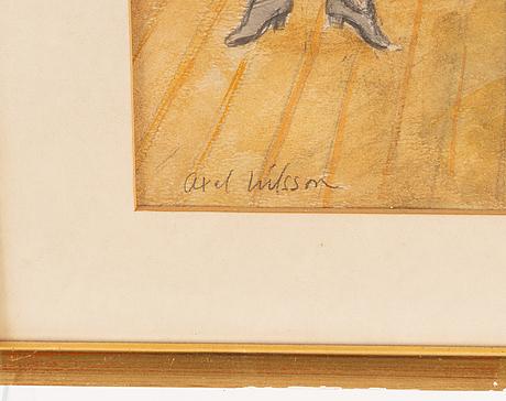 Axel nilsson, akvarell, signerad.