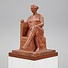 Paul cornet, a terracotta sculpture, signed and numbered 4/8.