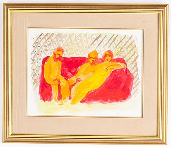 Peter Dahl, gouache, signed and dated -80.