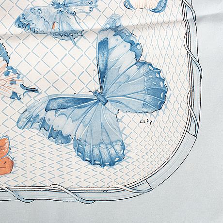 Hermès, a 'farandole' silk scarf.