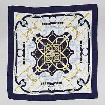 Hermès, an 'Eperon d'Or' silk scarf.
