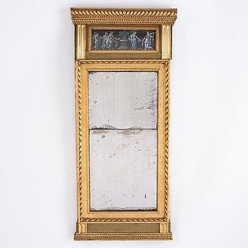 A late gustavian mirror, around year 1800.