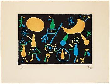 "776. Joan Miró, ""People on a black background""."