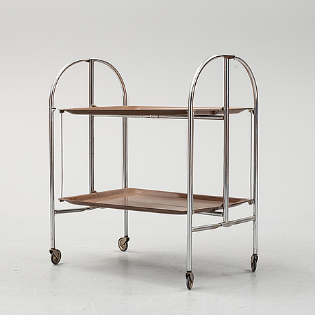 A serving trolley from the second half of the 20th century.