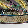 Birger kaipiainen, a stoneware decorative bowl signed kaipiainen arabia.