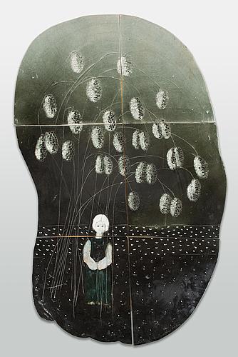 Heljä liukko-sundström, a unique ceramis relief, signed heljä liukko-sundström, arabia.