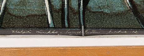 Heljä liukko-sundström, seinälaatta, keramiikkaa, signeerattu ja päivätty -82, arabia numeroitu 343/500.