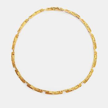 """Björn Weckström, A 14K gold necklace """"Tundra"""". Lapponia 1974."""