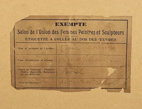 Frédérique vallet-bisson, a signed and dated pastel.