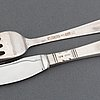 Jacob ängman, a part 'rosenholm' silver cutlery, gab, third quatyer of the 20th century (114 pieces).