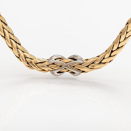 An 18k gold neckalce with ca. 0.80 ct of diamonds. timanttiset, helsinki.