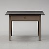 A painted table with a drawer, gustavian style, 19/20th century.