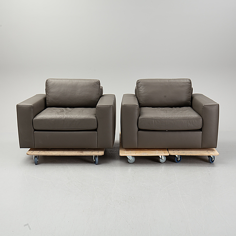 A pair of de sede armchairs,