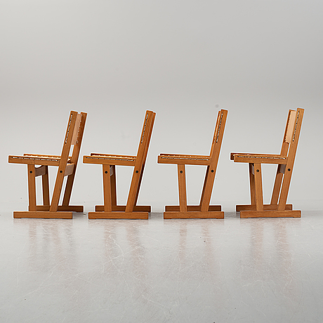 Four chairs by svein bjørneng for bruksbo.