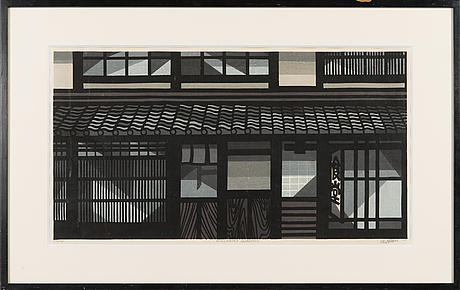 Clifton karhu, wood cut, signed and dated -05, numbered 23/100.
