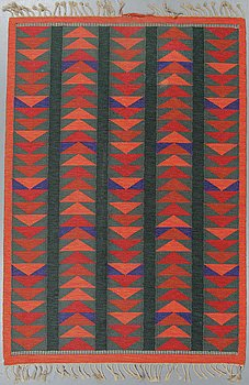 A carpet, flat weave, ca 238-240 x 165,5-167,5 cm, probably Zanzibar by Berit Woelfer for Kasthall.