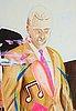 Jonathan borofsky, acrylic on canvas.