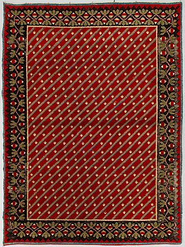 A Finnish long pile rug, turn of 20th century.