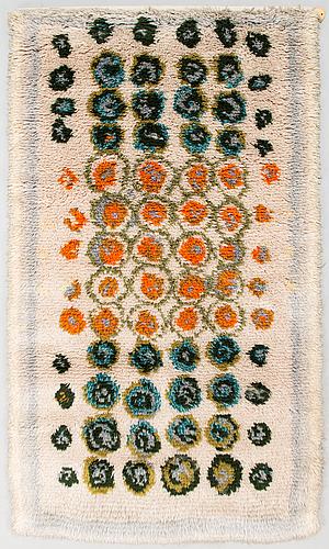 Ryijy, 1960-luku. noin 165x95 cm.