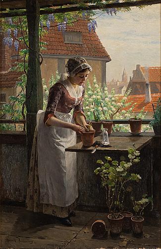 Henrik nordenberg, oil on canvas, signed.