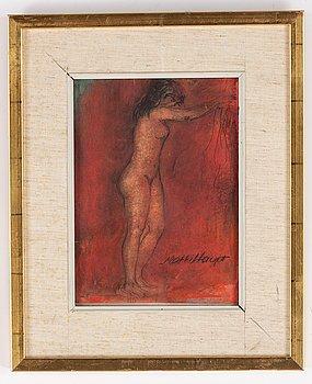 Matti Haupt, watercolours, 2, signed.