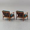Bertil fridhagen, a pair of 'kuba' easy chairs.