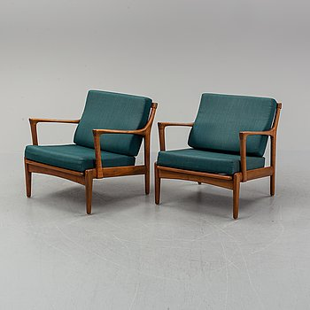 Bertil Fridhagen, a pair of 'Kuba' easy chairs.