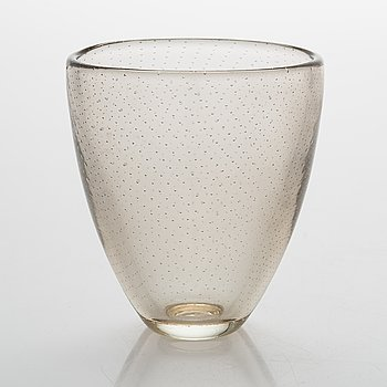Gunnel Nyman, Glass vase, signed G. Nyman Notsjö 1947.