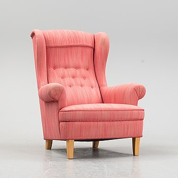 Carl Malmsten, a 'Häggbom' easy chair, AB O.H. Sjögren, Tranås.