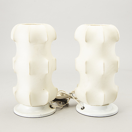 Table lamps 1 pair, italy 60s.