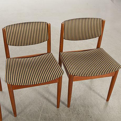Chairs, finn juhl, four st, 1960s france daverkosen.