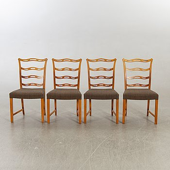 Chairs, 4 Ferdinand Lundqvist, second half of the 20th century.