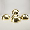 Wall lamps, aneta, 5 brass, second half of the 20th century.