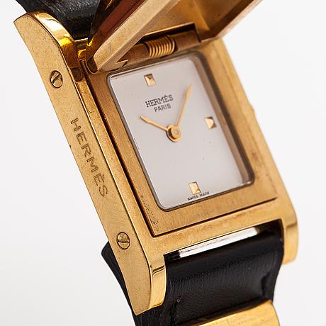 Hermes medor, rannekello, 23 x 23 mm.